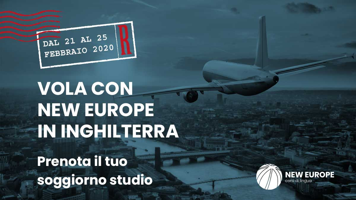 vola con new europe in inghilterra